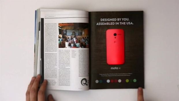 [CHI] Motorola to Debut Ineractive Print Ad for Moto X Device