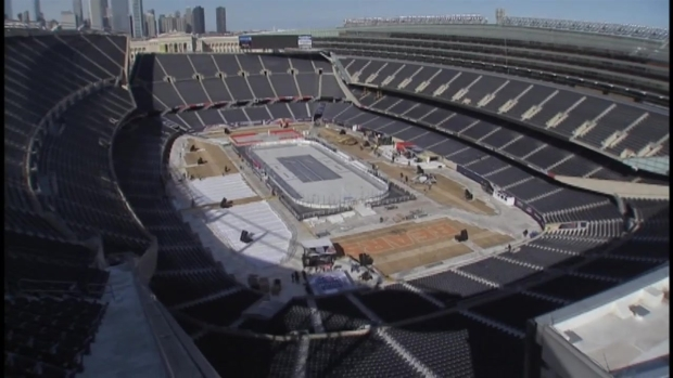 [CHI] From Football Stadium to Hockey Rink