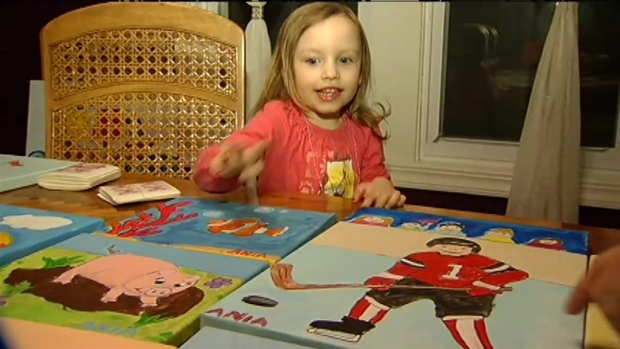 [CHI] Painting Helps 3-Year-Old Cope With Cancer
