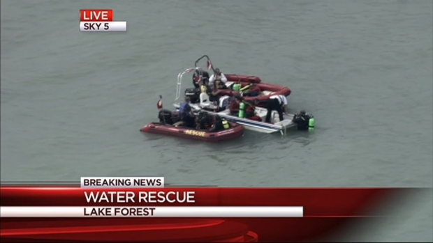[CHI] Water Rescue Underway Near Lake Forest