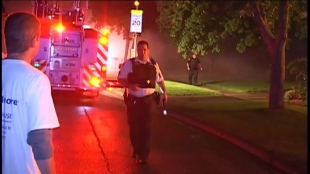 [CHI] Crews Battle Mokena House Fire