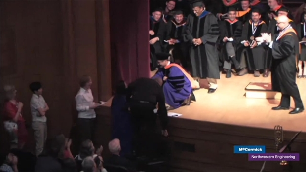 [CHI] Northwestern Grad Proposes During Ceremony