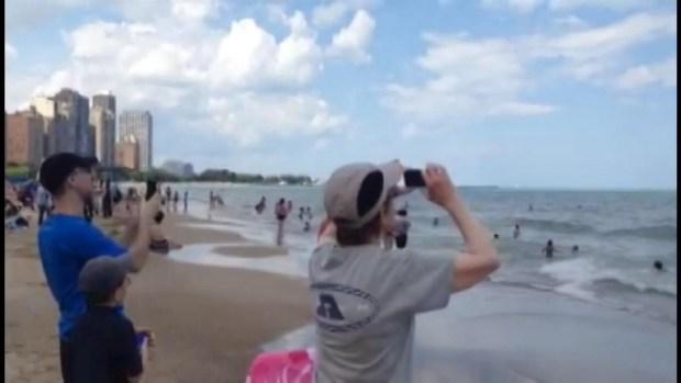 Blue Angels Surprise Beach-Goers at Oak Street Beach