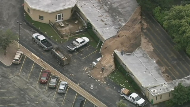 Strong Winds Damage Morton Grove Nursing Home