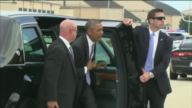 [CHI] Obama Visits Chicago as Security Scrutinized
