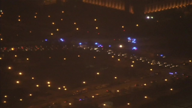 Aerial Footage of Ferguson Protest on Lake Shore Drive