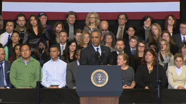 [CHI] Obama Addresses Hecklers During Chicago Speech