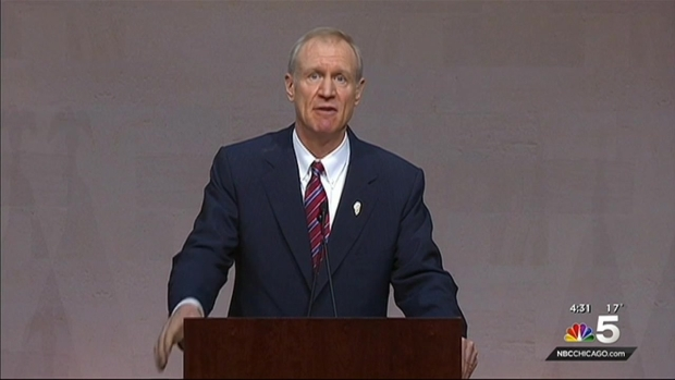 Bruce Rauner Sworn in as Governor of Illinois