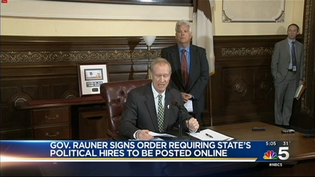 [CHI] Rauner Issues Order to Make Names of Political Hires Public