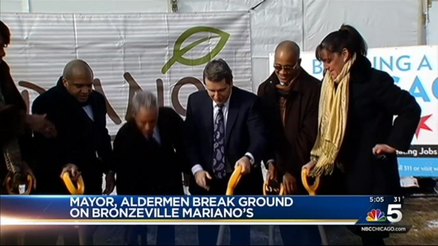 [CHI] Mayor Emanuel Breaks Ground on Bronzeville Mariano's