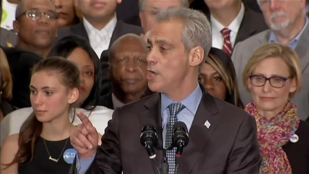 [CHI] WATCH: Mayor Rahm Emanuel's Victory Speech