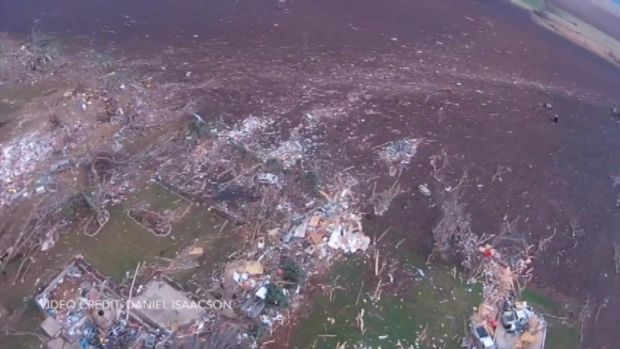 [CHI] Drone Video Captures Tornado Damage in Illinois