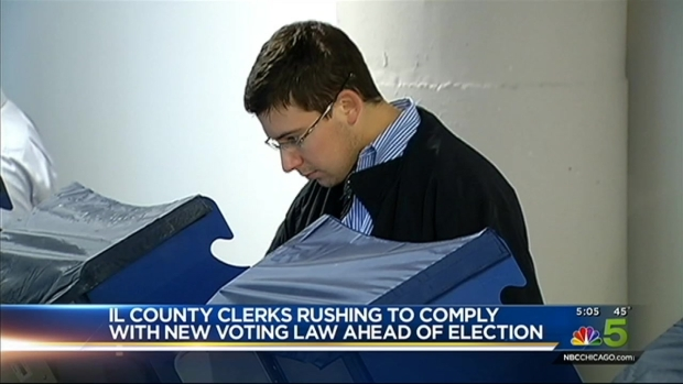 [CHI] Clerks Rush to Comply With Voting Laws Ahead of Election to Replace Schock