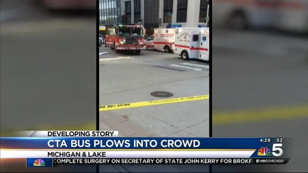 [CHI] CTA Bus Driver Cited After Downtown Crash