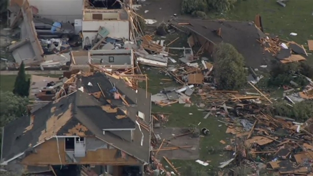 [CHI] Aerial Footage Shows Damage in Coal City