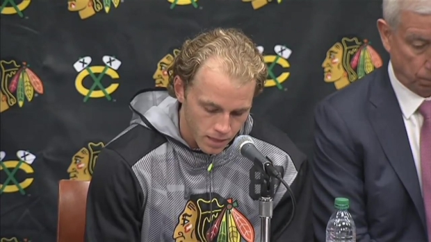 [CHI] Patrick Kane Makes Statement at Blackhawks Press Conference