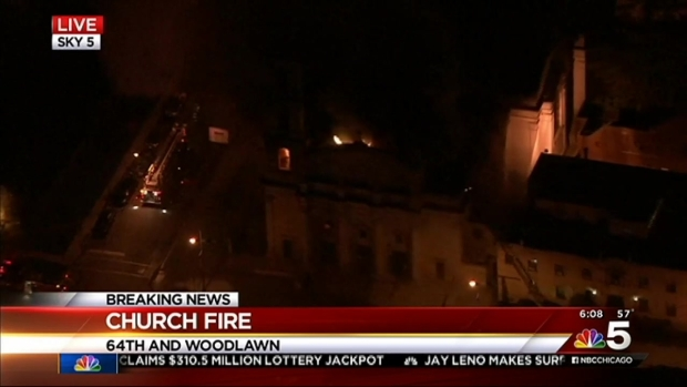 [CHI] Sky 5: Church Fire in South Side