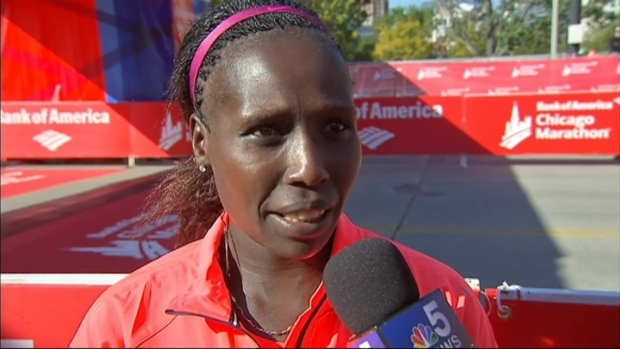[CHI] Kenya's Florence Kiplagat Wins Women's Race in 2015 Chicago Marathon