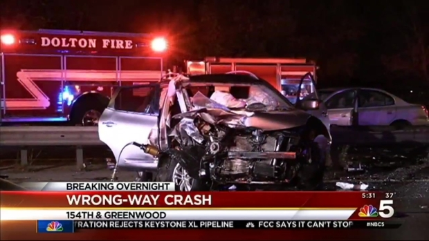 4-Car Wrong-Way Crash on Bishop Ford Leaves 6 Injured - NBC