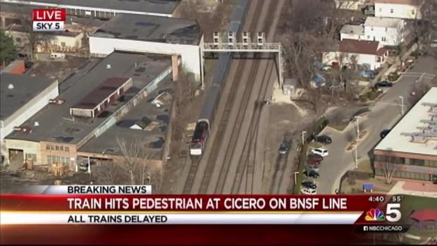 [CHI] Metra Train Strikes Pedestrian