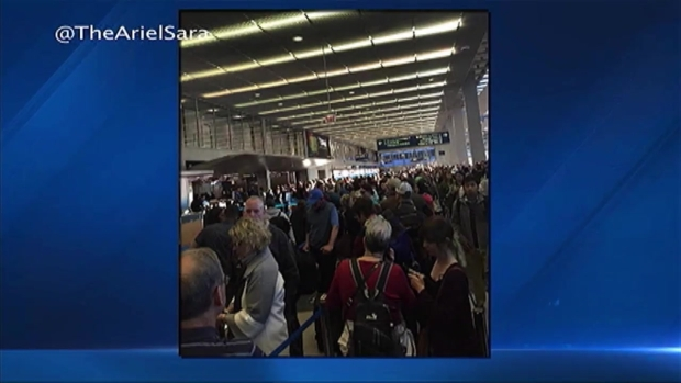 [CHI] Long Security Lines Leave Passengers Stranded at O'Hare