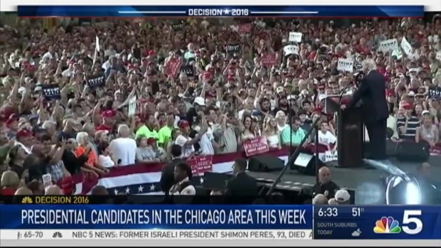 [CHI] Trump Makes 2 Chicago-Area Campaign Stops Wednesday