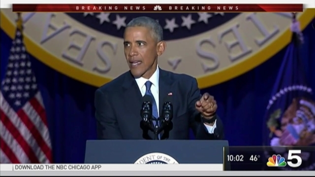 [NATL-CHI] Obama Gives Farewell Speech in Chicago to Crowd of 18,000