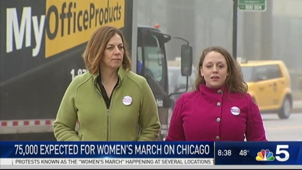 Thousands Join Women's March on Chicago