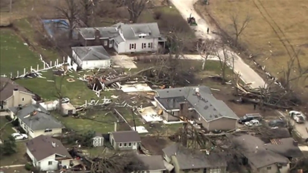 Sky 5 Footage Shows Tornado Damage in LaSalle County
