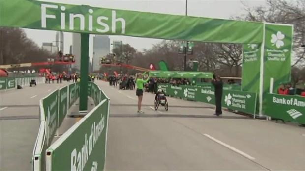 McGrory Crosses Finish Line in Wheelchair Race at 2017 Shamrock Shuffle