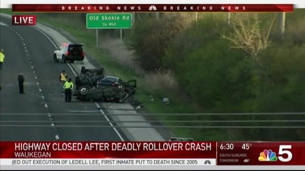 [CHI] Multi-Vehicle Crash Shuts Down Route 41 Near Waukegan