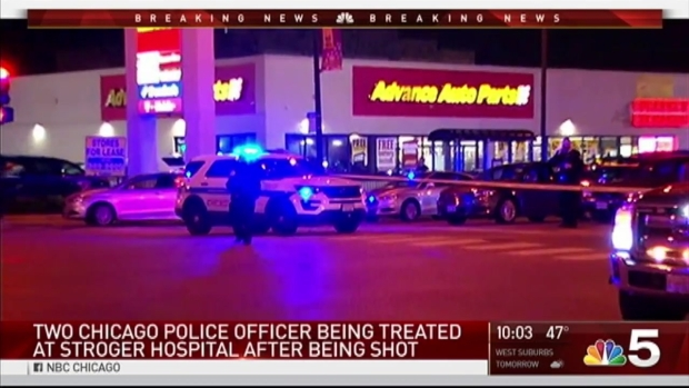 'Manhunt' Underway After 2 Chicago Police Officers Shot: CPD