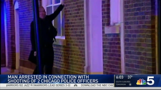 Man Charged in Shooting of 2 Chicago Police Officers