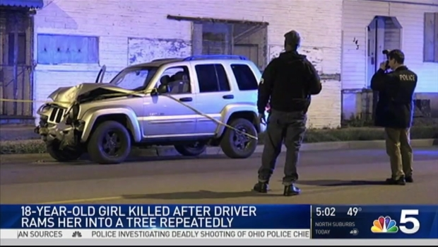 Woman Killed After Being Repeatedly Rammed Into Tree: CPD