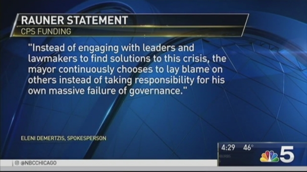 [CHI] Emanuel, State Officials Spar Over CPS Funding Plan