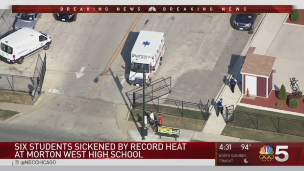 [CHI] 18 Ambulances Respond to Berwyn Pep Assembly For Heat-Related Illnesses