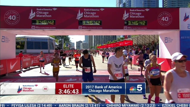 2017 Bank of America Chicago Marathon Finish: 3:44:20