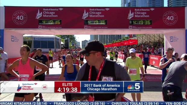2017 Bank of America Chicago Marathon Finish: 4:17:04