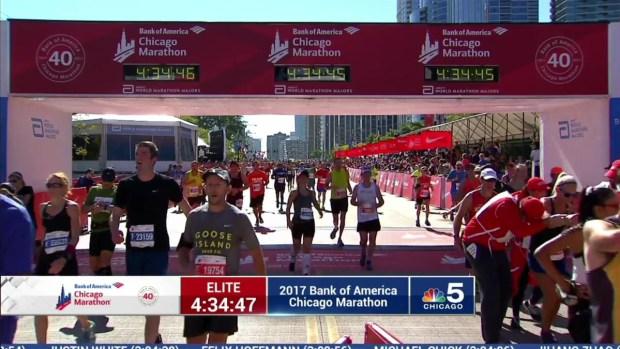 2017 Bank of America Chicago Marathon Finish: 4:32:30