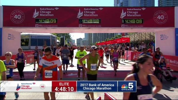 2017 Bank of America Chicago Marathon Finish: 4:45:16