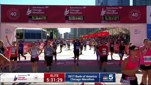 2017 Bank of America Chicago Marathon Finish: 5:28:48