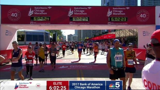 2017 Bank of America Chicago Marathon Finish: 5:59:59