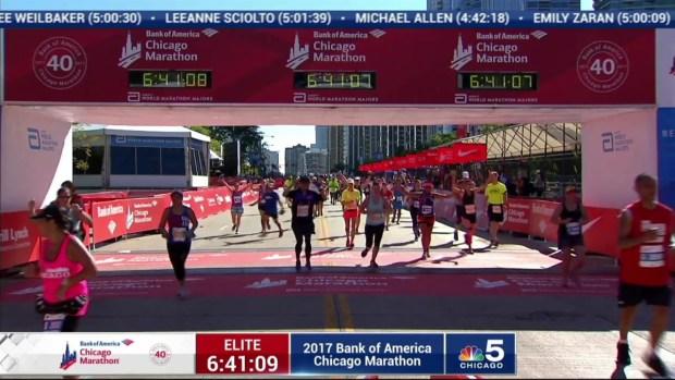 2017 Bank of America Chicago Marathon Finish: 6:37:50