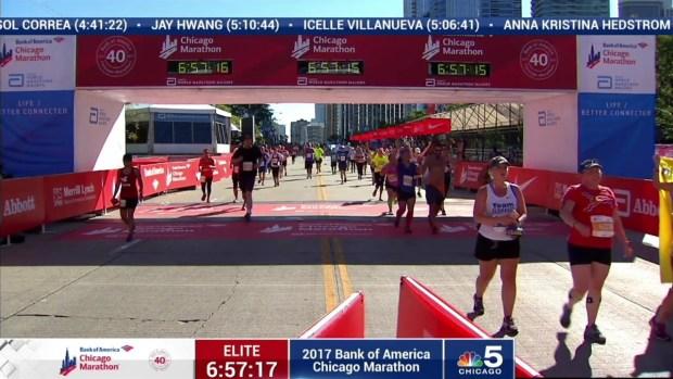 2017 Bank of America Chicago Marathon Finish: 6:54:38
