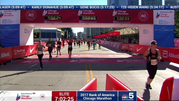 2017 Bank of America Chicago Marathon Finish: 6:59:54