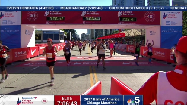 2017 Bank of America Chicago Marathon Finish: 7:04:55