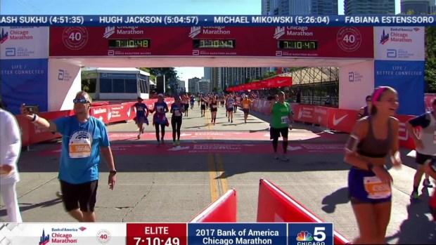 2017 Bank of America Chicago Marathon Finish: 7:08:28