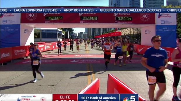 2017 Bank of America Chicago Marathon Finish: 7:24:20