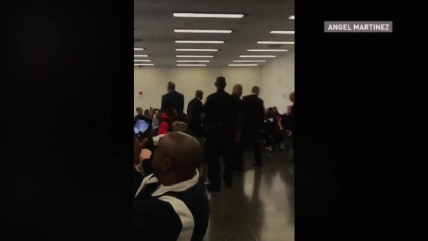Raw Video: Obama Shakes Hands With Fellow Jurors