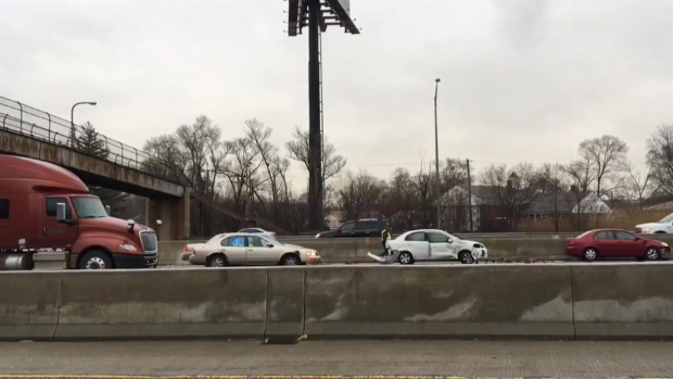 [CHI] 14-Car Crash Among Dozens of Accidents in Icy Morning Rush